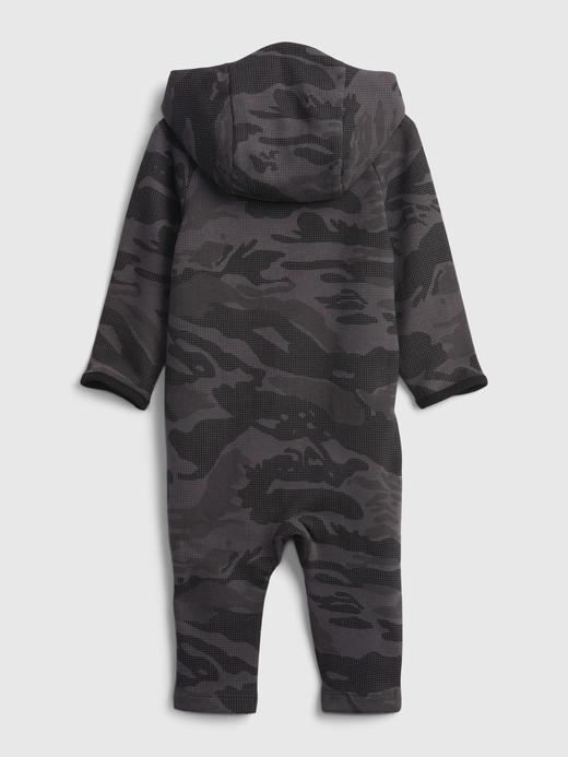 Erkek Bebek Siyah GapFit Jersey Tulum