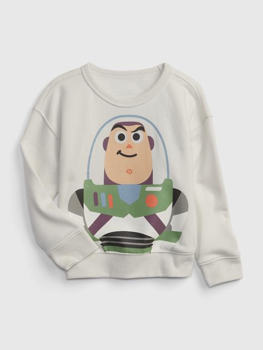 Erkek Bebek Bej Disney Yuvarlak Yaka Sweatshirt