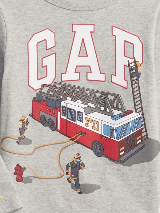 Erkek Bebek mavi %100 Organik Pamuk Gap Logo T-Shirt
