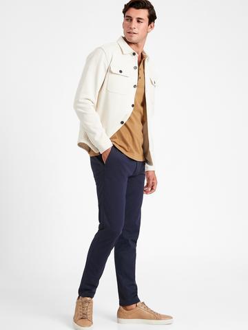 Erkek Lacivert Slim Fit Luxe City Pantolon