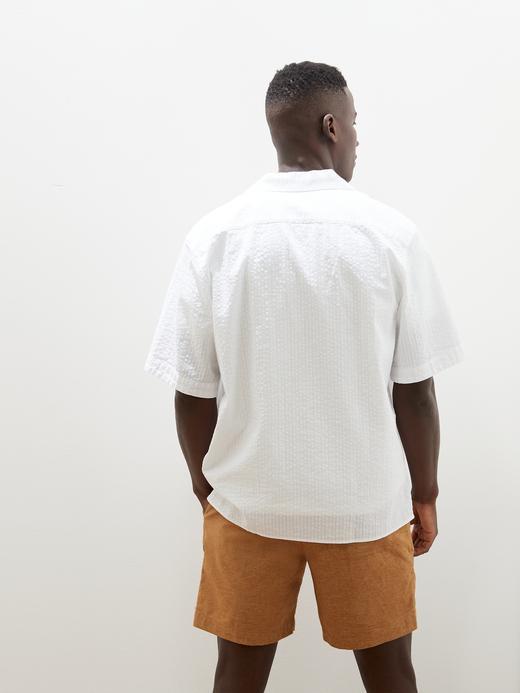 Erkek Beyaz Relaxed-Fit Gömlek