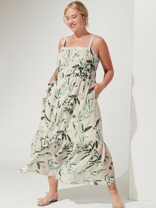 Kadın Yeşil Düğmeli Maxi Elbise