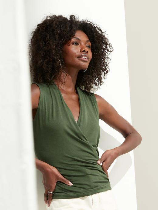 Kadın Yeşil Threadsoft Wrap Bluz