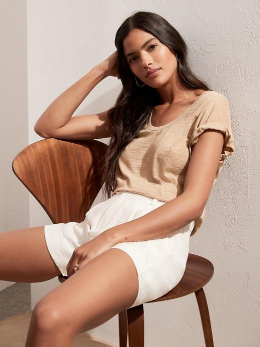 Kadın Bej Yuvarlak Yaka Legging T-Shirt