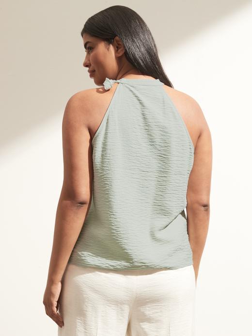 Kadın BEECH Boyun Bağlamalı Halter Yaka Bluz
