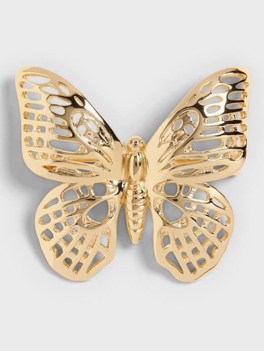 Kadın Sarı Kelebek Broş