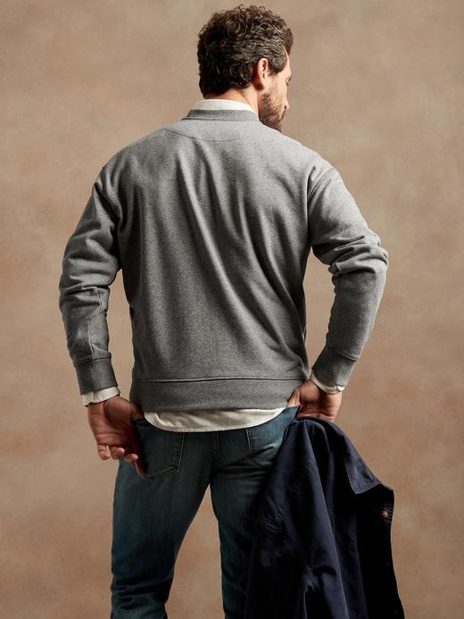 Erkek kirmizi Organik French Terry Sweatshirt