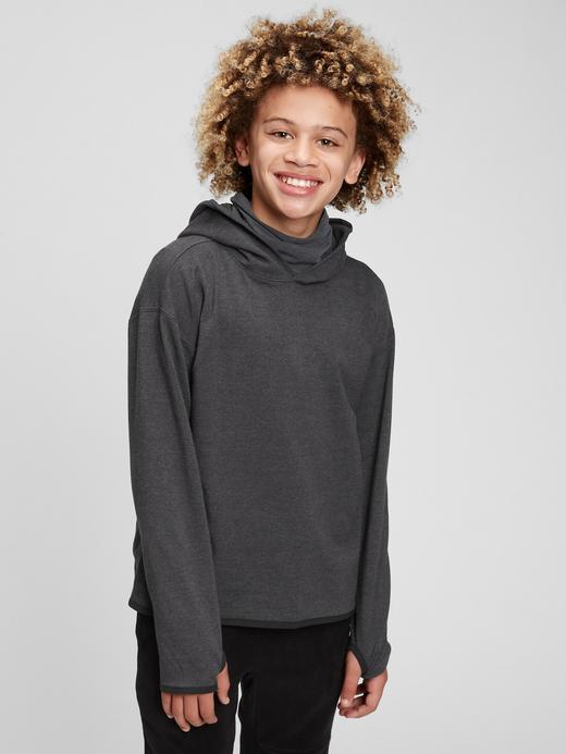 Erkek Çocuk Mavi GapFit Kapüşonlu Sweatshirt