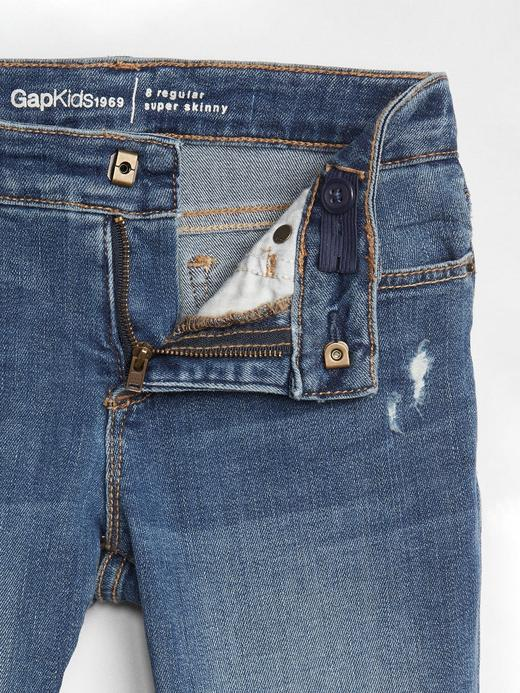 Kız Çocuk Mavi 1969 Streç super skinny jean pantolon
