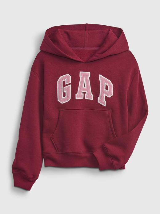 Kız Çocuk kirmizi Gap Logo Kapüşonlu Sweatshirt