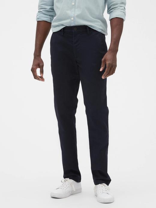 Erkek lacivert Slim Fit Gap Flex Khaki Pantolon