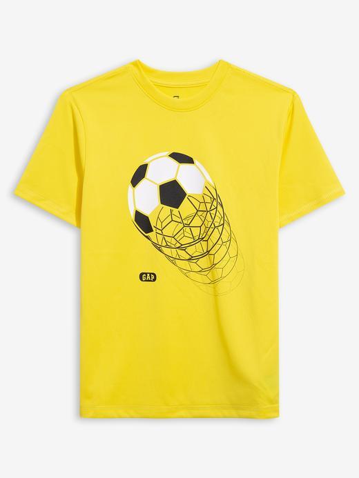Erkek Çocuk Sarı GapFit Grafik Desenli T-Shirt
