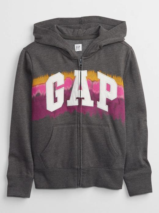 Kız Çocuk siyah Gap Logo Kapüşonlu Sweatshirt