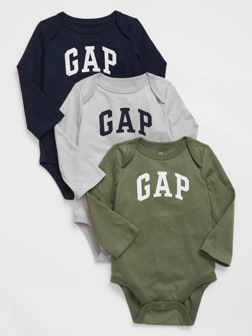 Erkek Bebek Lacivert 3'lü Baby Gap Logo Bodysuit