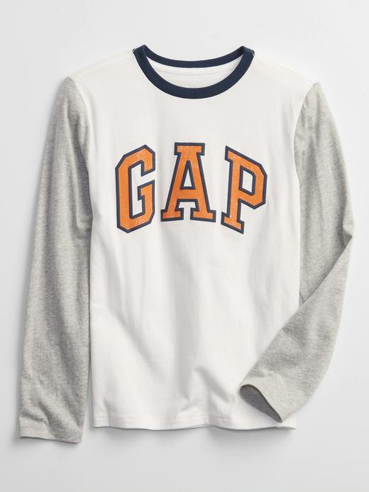 Erkek Çocuk Beyaz Gap Logo T-Shirt