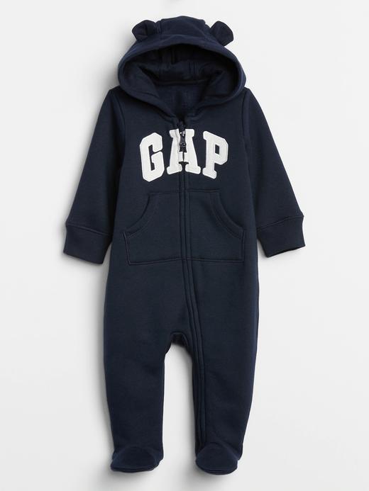 Erkek Bebek Lacivert Baby Gap Logo Tulum