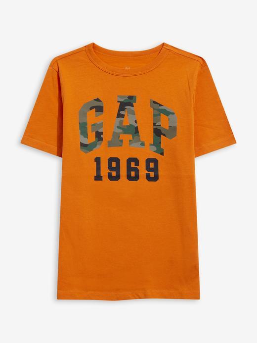 Erkek Çocuk Turuncu Gap Logo T-Shirt