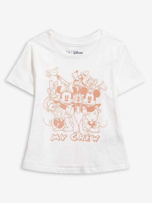 Kız Bebek Beyaz Disney Mickey Mouse and Minnie Mouse T-Shirt
