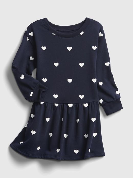 Kız Bebek Lacivert Kalp Detaylı Elbise