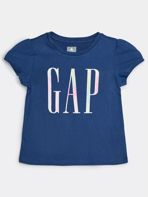 Kız Bebek Lacivert Gap Logo Kısa Kollu T-Shirt