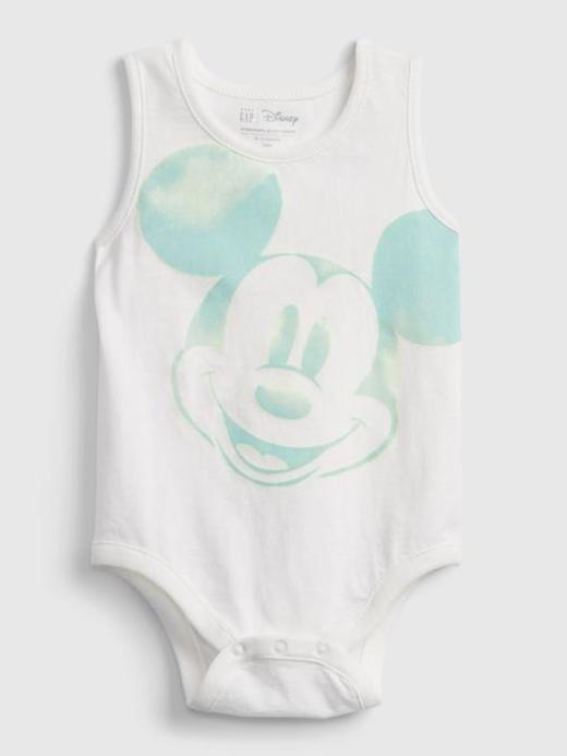 Erkek Bebek Beyaz Disney Mickey Mouse %100 Organik Pamuk Tulum