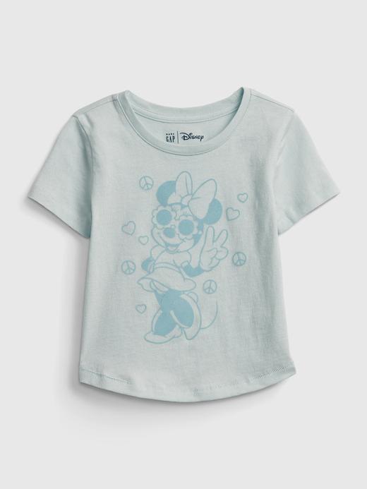 Kız Bebek Mavi Disney Mickey Mouse and Minnie Mouse T-Shirt