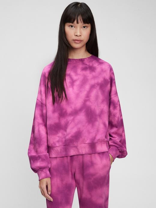 Kadın mor Vintage Yuvarlak Yaka Sweatshirt