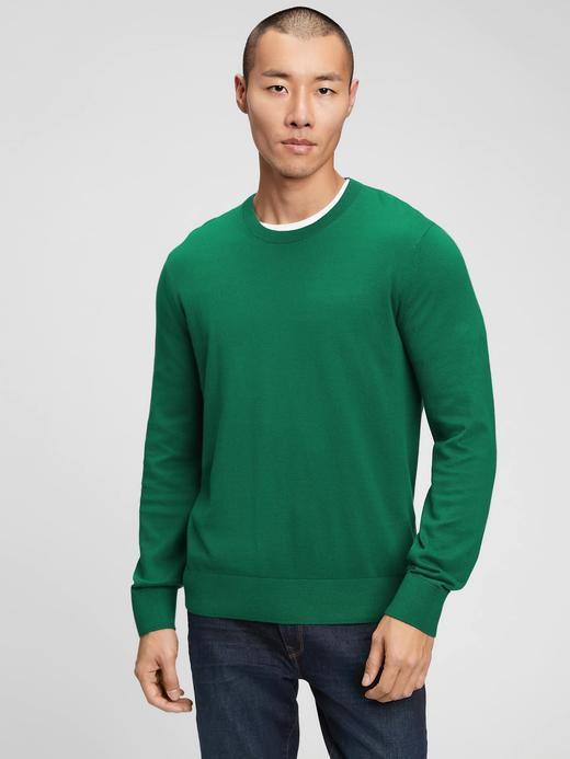 Erkek Yeşil Yuvarlak Yaka Kazak