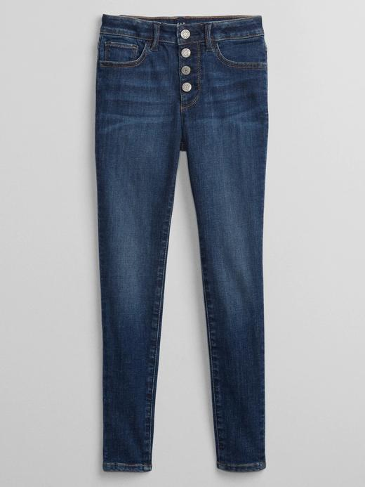 Kız Çocuk Mavi Washwell™ High Rise Legging Jean