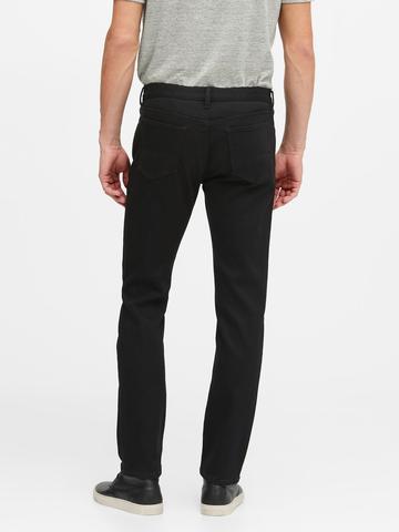 Erkek Siyah Slim LUXE Traveler Jean