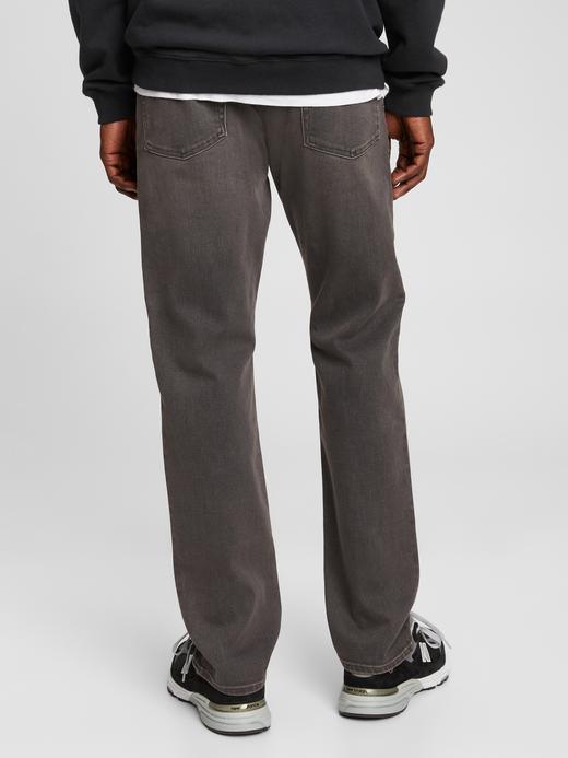 Erkek Gri Washwell™ Soft Flex Straight Jean Pantolon