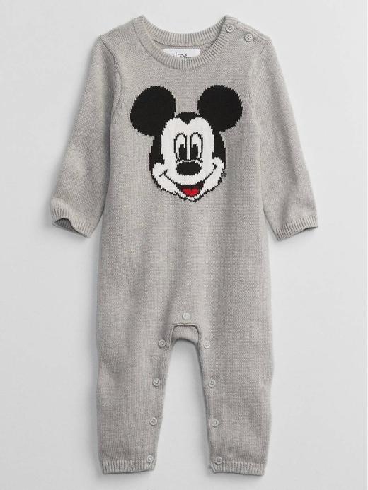Erkek Bebek Gri Disney Mickey Mouse Tulum