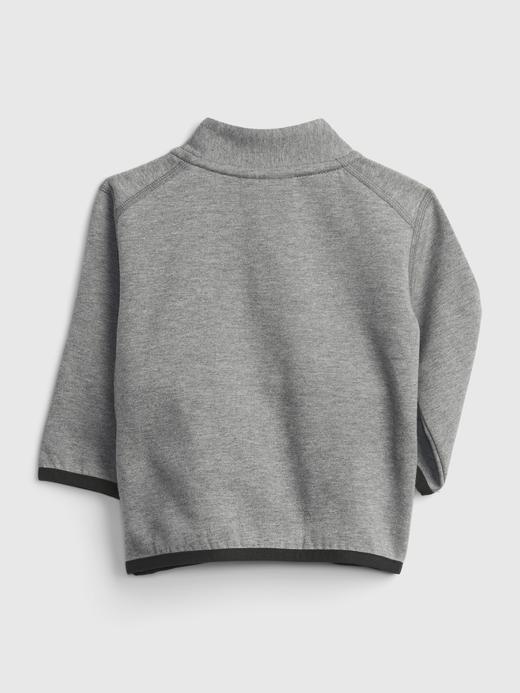 Erkek Bebek Gri GapFit Baby Tech Sweatshirt