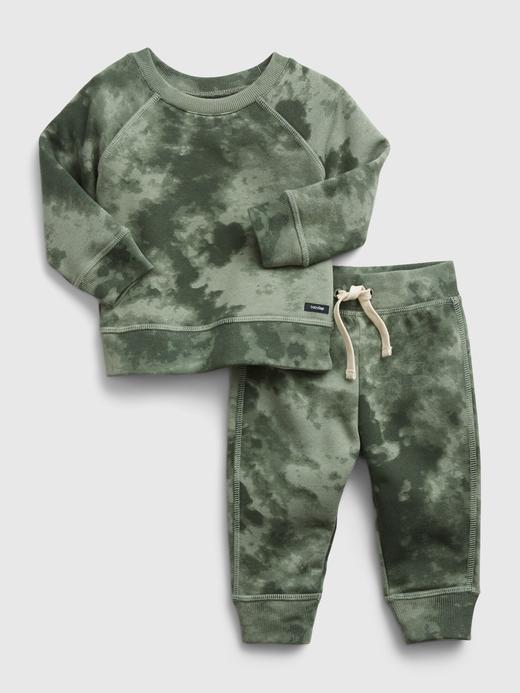Erkek Bebek Yeşil Tie-Dye Takım