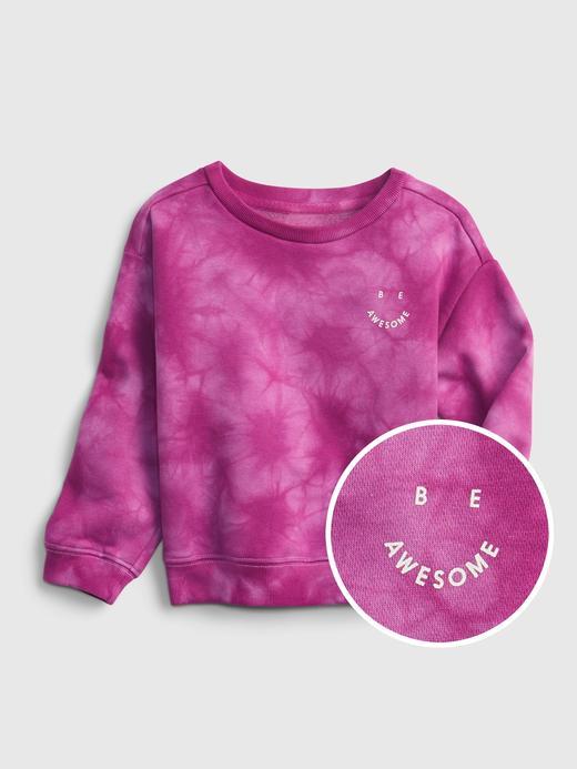 Kız Bebek Pembe Yuvarlak Yaka Sweatshirt
