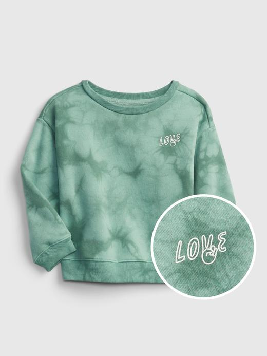 Kız Bebek Yeşil Yuvarlak Yaka Sweatshirt