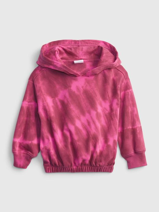 Kız Bebek Pembe Tie-Dye Kapüşonlu Sweatshirt
