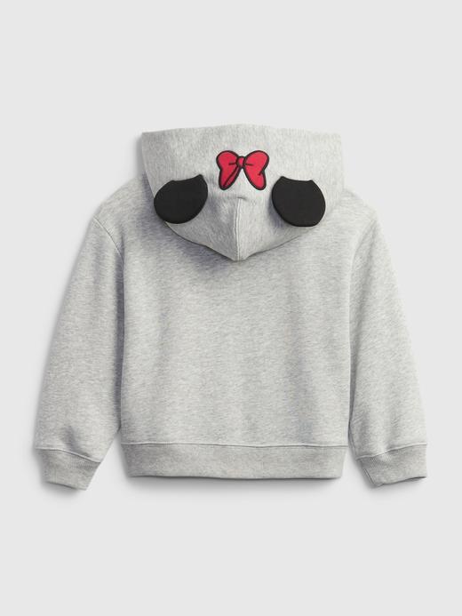 Kız Bebek Gri 3D Kulak Desenli Kapüşonlu Sweatshirt