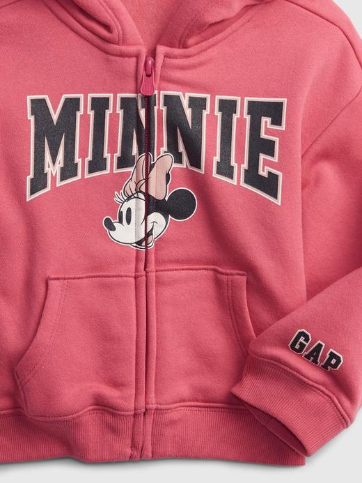 Kız Bebek Pembe Disney Minnie Mouse Kapüşonlu Sweatshirt