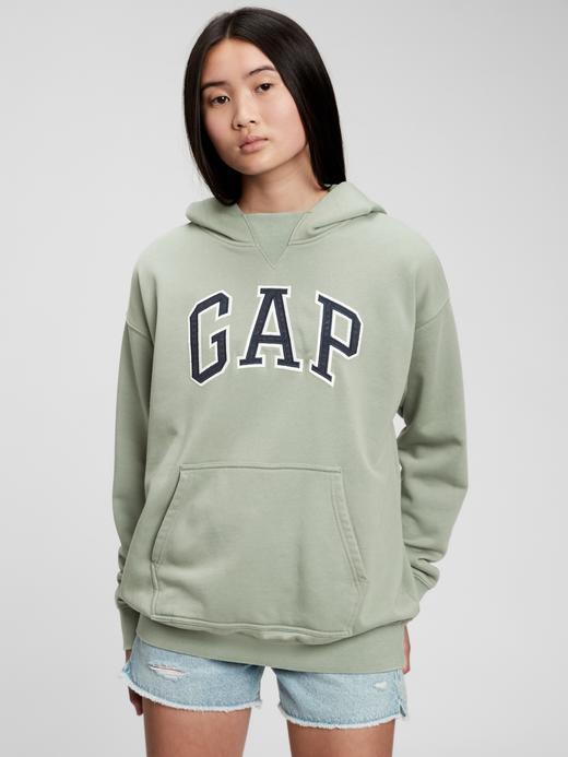 Genç Erkek Lacivert Teen Gap Logo Kapüşonlu Sweatshirt