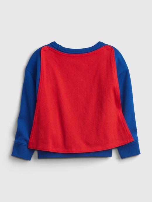 Erkek Bebek Mavi DC ™ Superman Pelerinli Sweatshirt