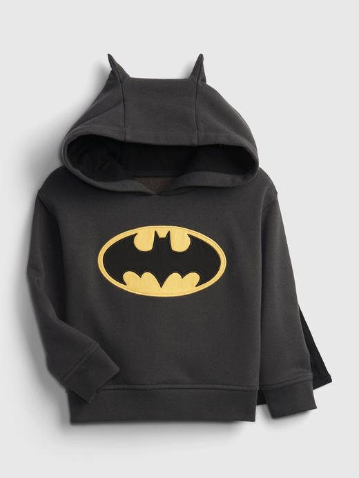 Erkek Bebek Gri DC™ Batman Pelerinli Sweatshirt