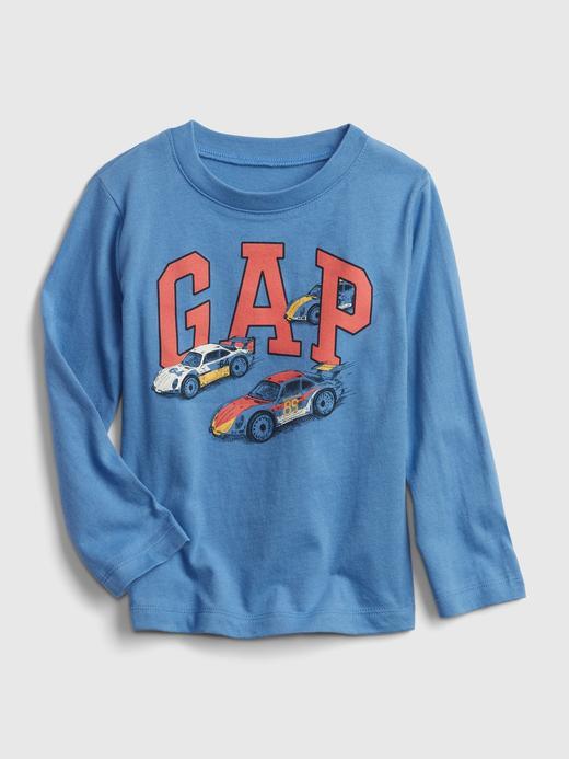 Erkek Bebek Mavi Gap Logo T-Shirt