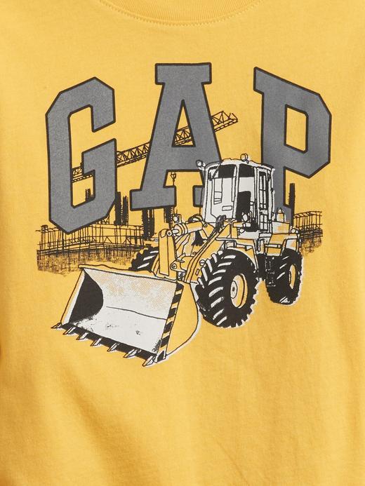 Erkek Bebek Yeşil Gap Logo T-Shirt