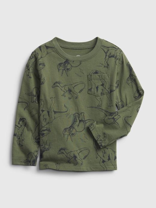 Erkek Bebek Yeşil Grafik Desenli T-Shirt