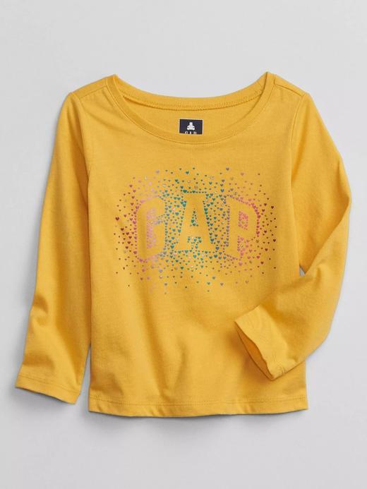 Kız Bebek Sarı Gap Logo T-Shirt
