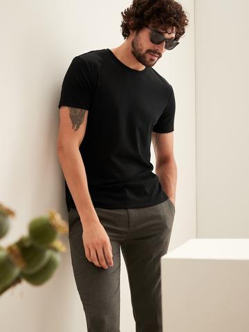 Erkek Siyah Luxury Touch T-Shirt