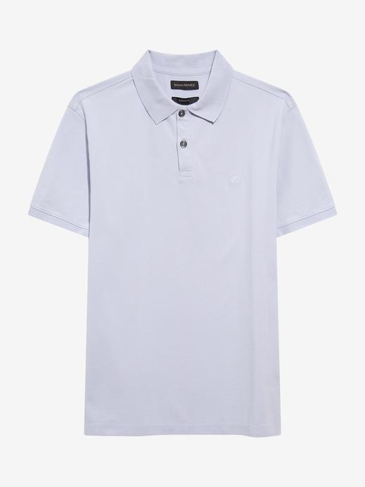 Erkek mavi Pique Polo Yaka T-Shirt