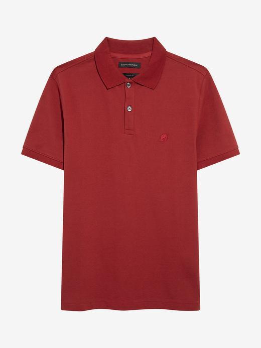 Erkek Kırmızı Pique Polo Yaka T-Shirt