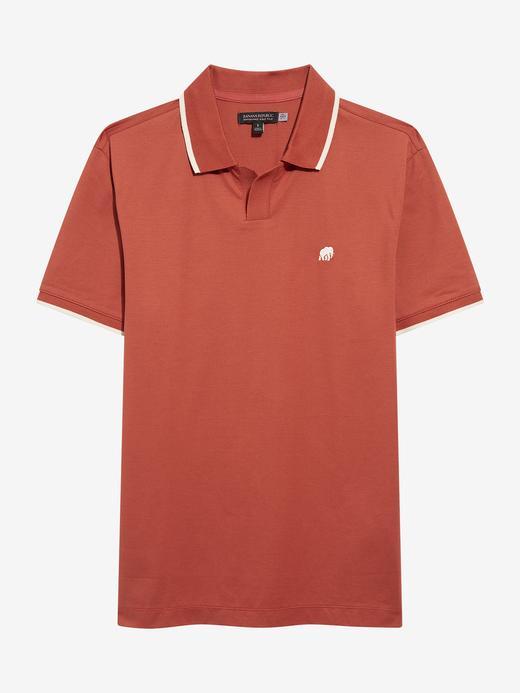 Erkek Kırmızı Luxury-Touch Performance Polo Yaka T-Shirt